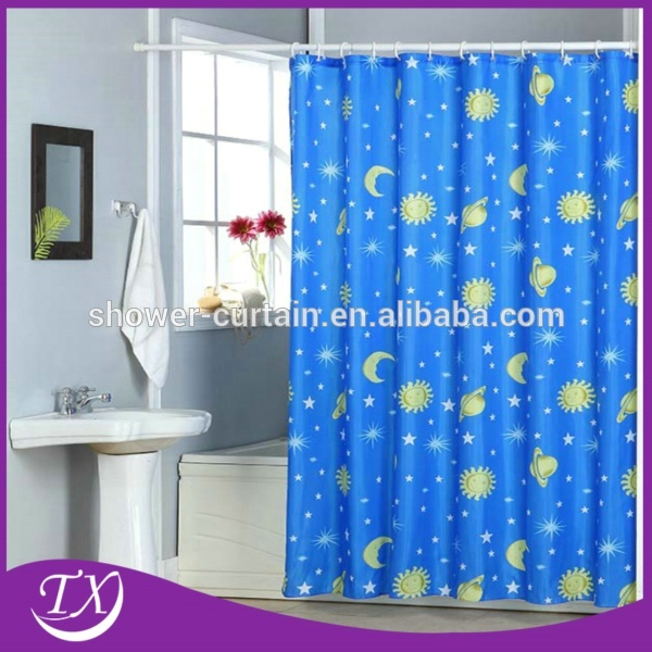 Popular printing polyester fabric shower curtains buy for Y h furniture trading