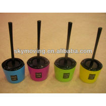 Plastic Colorful Toilet Brush Cleaning Brush with a Holder