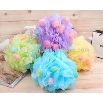 Colorful Cheap Mesh Pouf Bath Sponge