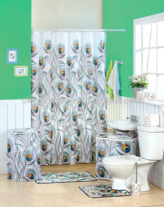 New Designs Shower Curtain With Matching Window Curtain