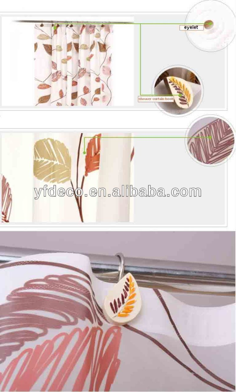 Polyresin shower curtain metal hook