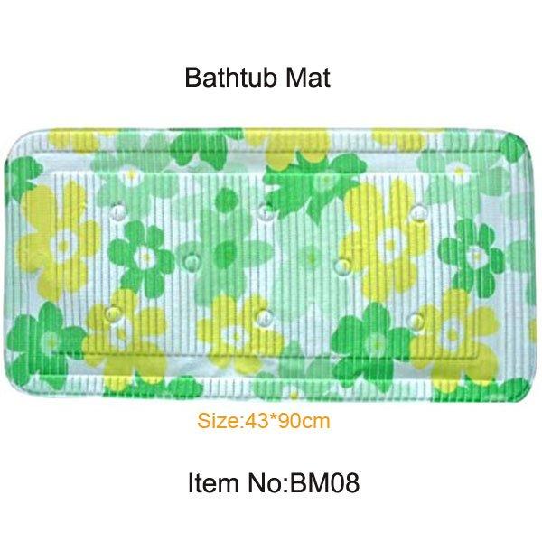 Eco Friendly Pvc Foam Safety Bathtub Mat Suction Cup Mat
