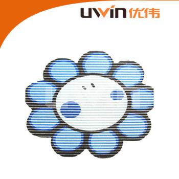 flower shape printed pvc foam fabric anti-slip custom bath rug