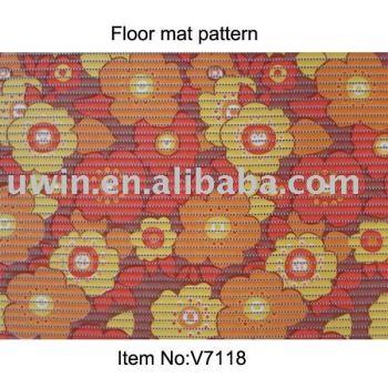 high quality wholesale printed PVC foam bathroom carpet non slip pvc floor mat