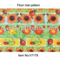 photo printed PVC bathroom floor mat foam floor mat