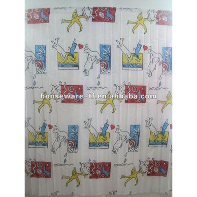 lovely design polyester shower curtain