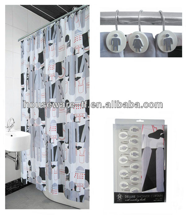 lovely design polyester shower curtain