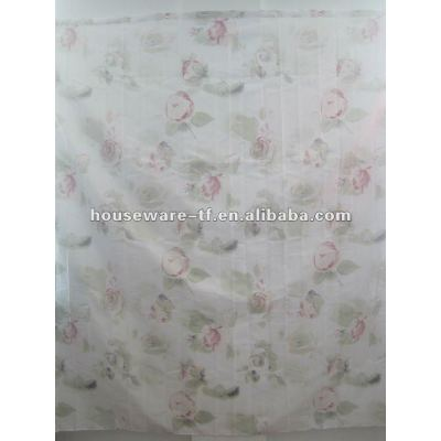 fashion polyester shower curtain with resin hooks