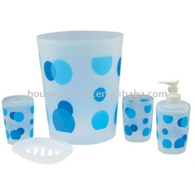 Plastic bathroom accessories