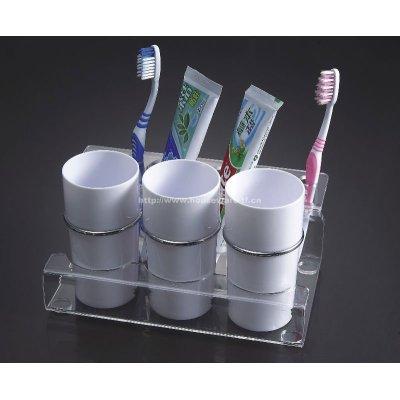 Acrylic toothbrush holder set