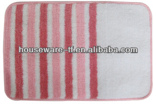 anti-slip colorful polyester bathroom mat well used in bathroom