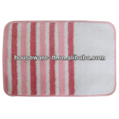 anti-slip colorful polyester bathroom mat colorful mat well used in bathroom