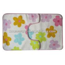 flower printing cotton bath mat