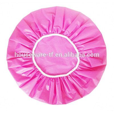 Simple Girls color ROSE RED PEVA Bath personalized shower caps
