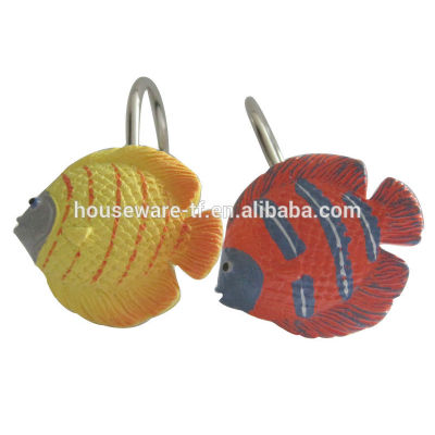 fish type shower curtain hooks resin material