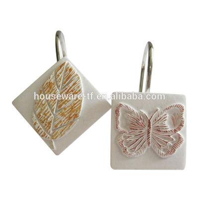 butterfly shower curtain hooks bathroom hooks