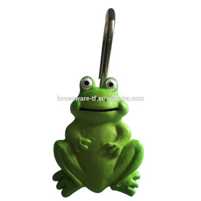 Frog design shower curtain hooks