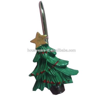 christmas tree type shower curtain hooks