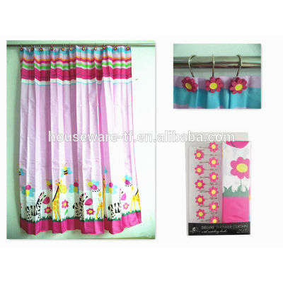 for kids polyester shower curtainswith hooks