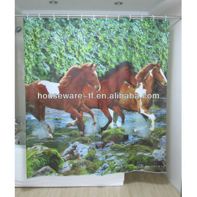 picture printing polyester shower curtains