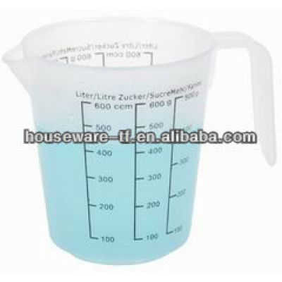 3 kinds of standards on 600ML PP plastic measuring cup