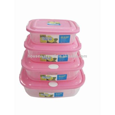 Plastic food container, microwave box