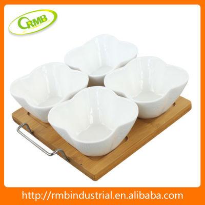 4/set flower shaped ceramic(RMB)