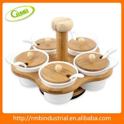5 set procelain condiment tray(RMB)