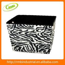 Zebra Print Storage Box