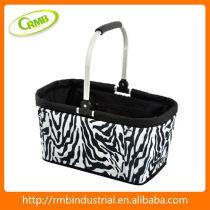 Zebra Print Picnic Basket