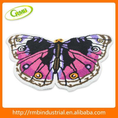 Butterfly Style Bath Mat in the Bathroom