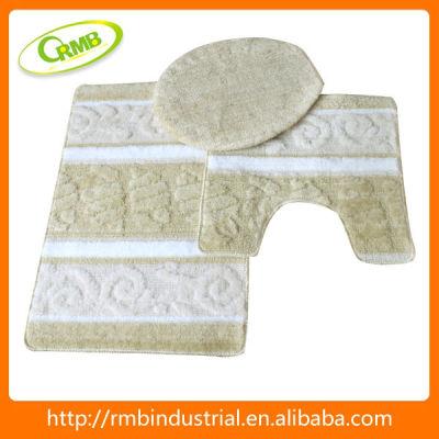 3pcs Acrylic Bath Mat With Latex Back Household item
