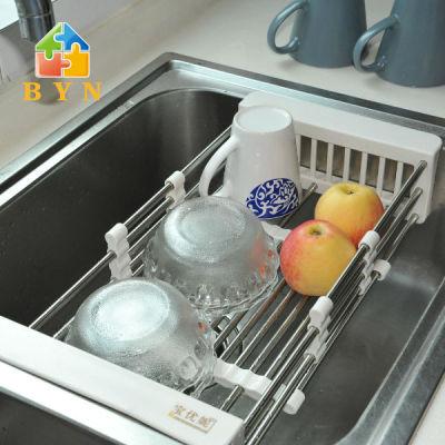 BYN kitchen sink extendable dish drainer rack dish drainer basket DQ ...