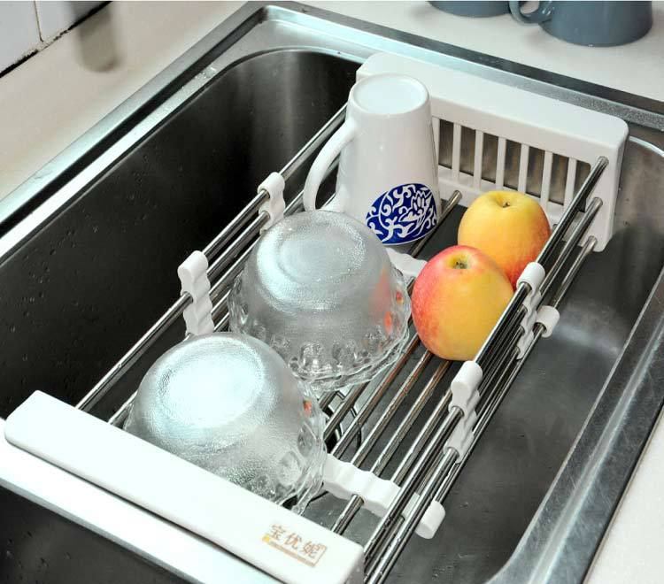 Amazing Kitchen Sink Drainer Basket Contemporary Bathroom