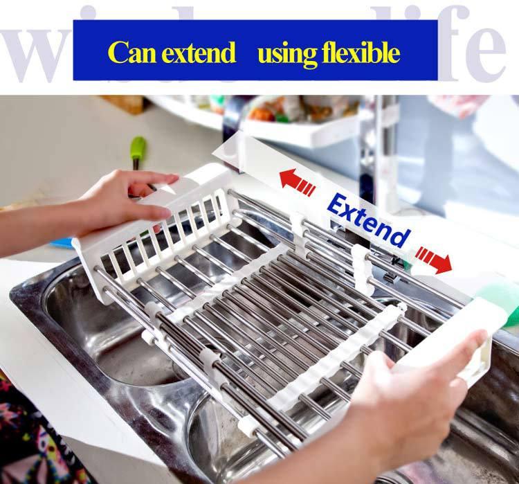 byn kitchen sink extendable dish drainer rack dish drainer b