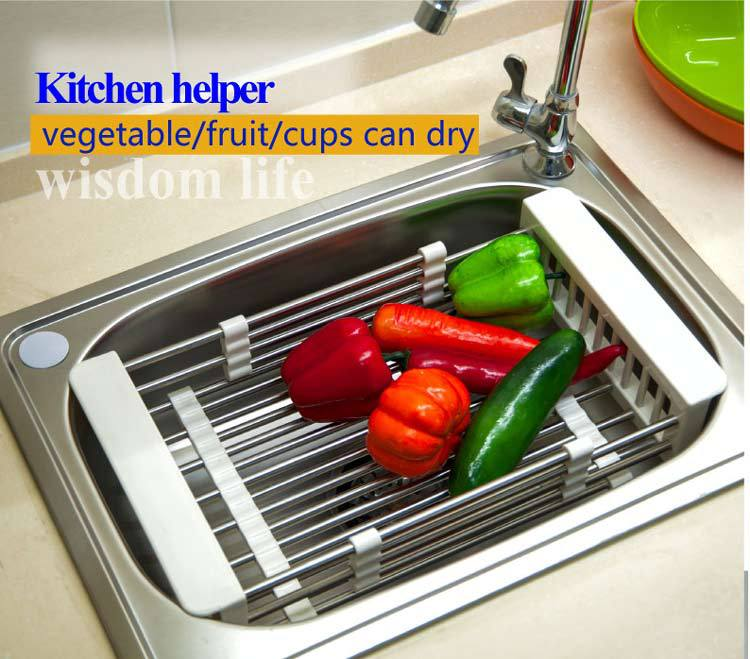 BYN kitchen sink extendable dish drainer rack dish drainer basket ...
