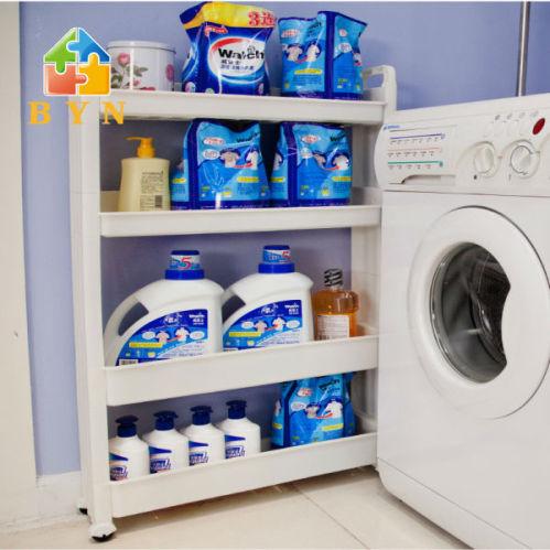 Byn 4 tiers movable plastic bathroom shampoo storage rack - Bathroom storage on wheels ...