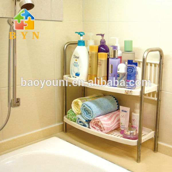 BYN Bathroom Corner Rack Shower Shampoo Holder Plastic Soap Rack DQ J009