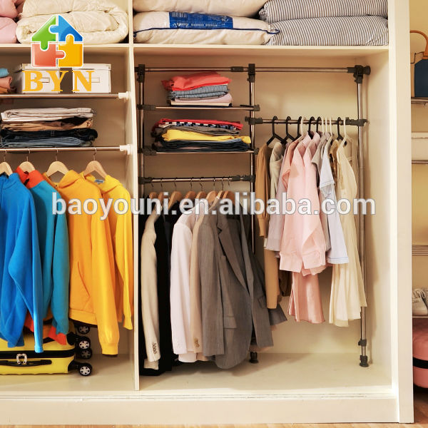 BYN Clothes Cabinet Design Clothes Storage Cabinet Metal Rack For Clothes  DQ 0832