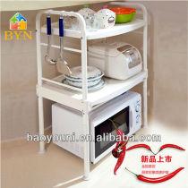 BAOYOUNI kitchen design display rack mobile microwave plastic tray microwave utensils DQ-1210 c1