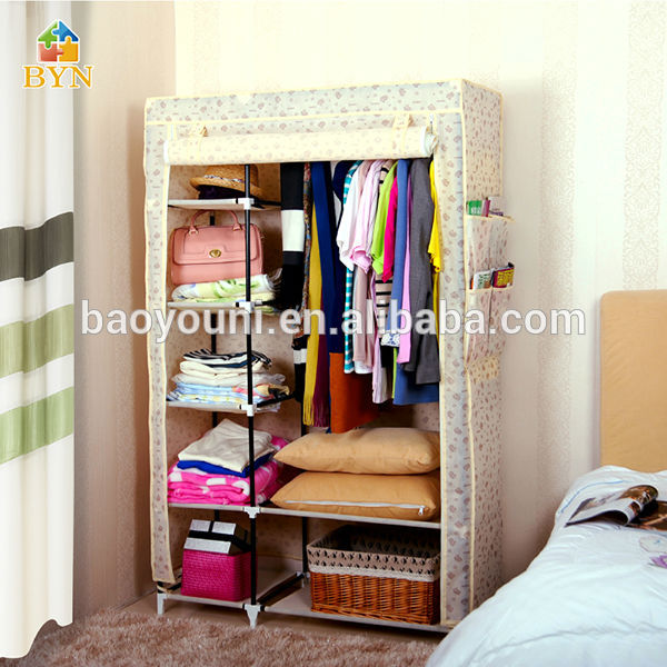 BYN Bedroom Cabinet DIY Clothes Storage Rack DQ 1213