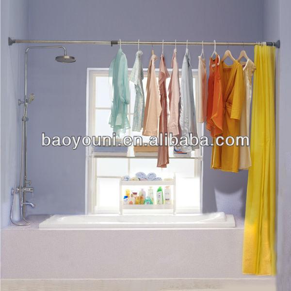 SC BYN shower rod telescopic shower rod flexible shower curtain ...