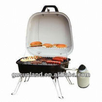 Table Gas BBQ/Portable Barbecue Grill, Fire Bowl with Porcelain Enameled Charbroil Gas Grill