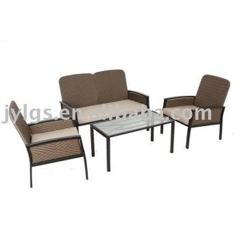 4pcs poly rattan patio furniture