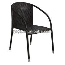 Home and Garden furniture Stackable PE Rattan Chair with strong steel frame