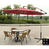 Outdoor cane leisure chairs and tables