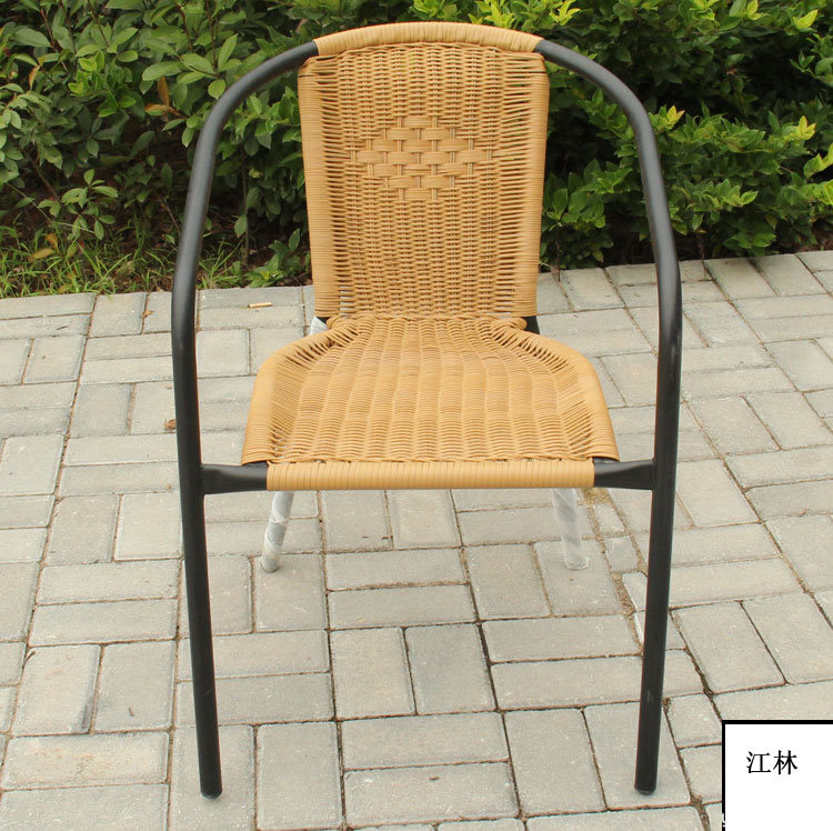 PE rattan chairs and tables