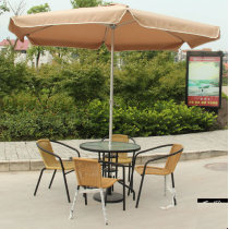 Outdoor leisure chairs and tables