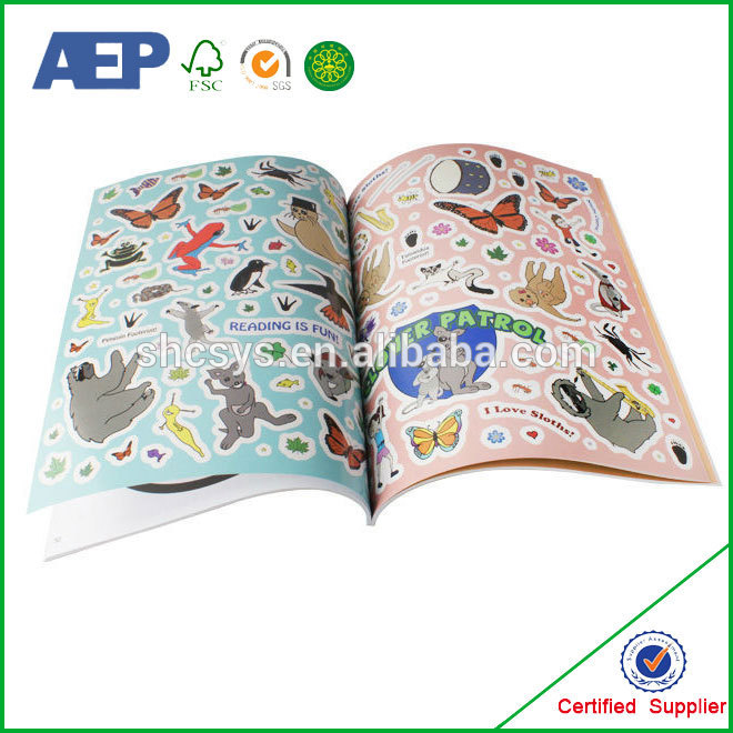 Printing custom sticker book for kids promotional stationery