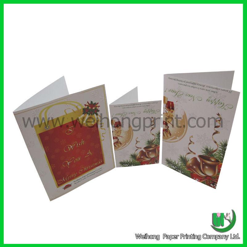 Decorated christmas card printing wholesales